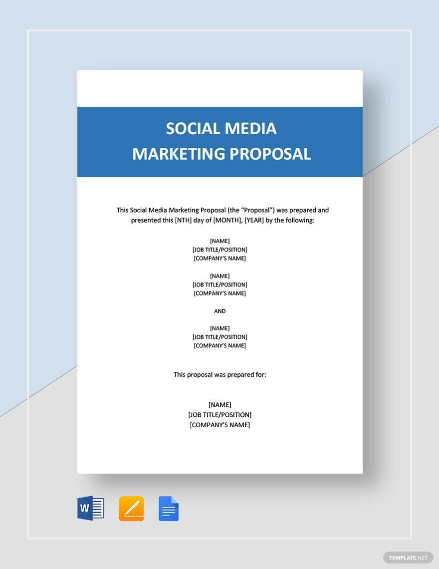 004 Unforgettable Social Media Marketing Proposal Template Word Design  PlanFull