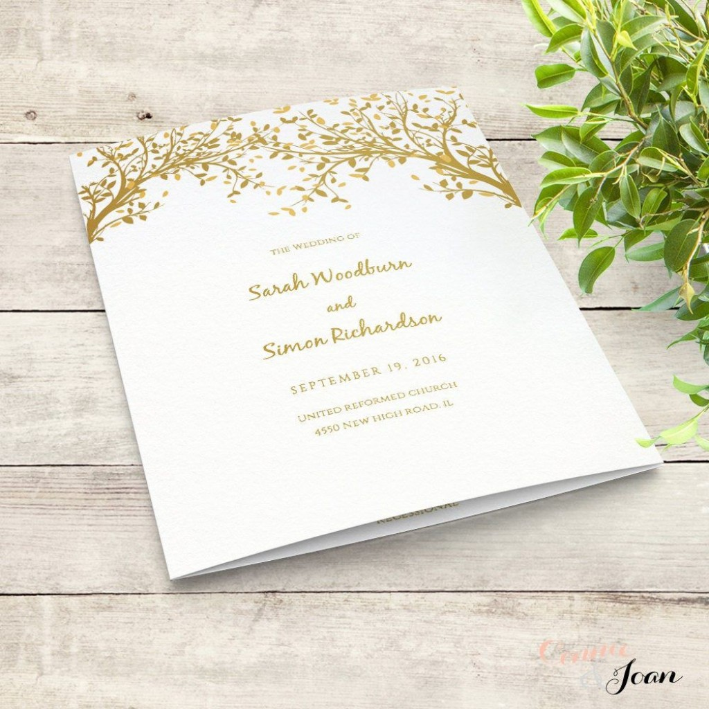 004 Unforgettable Wedding Order Of Service Template Word Design  Free MicrosoftLarge
