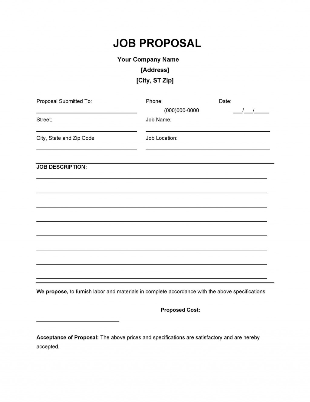 004 Unforgettable Writing A Job Proposal Template Sample High Resolution Large