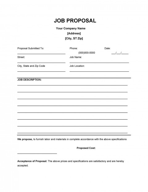 004 Unforgettable Writing A Job Proposal Template Sample High Resolution 480