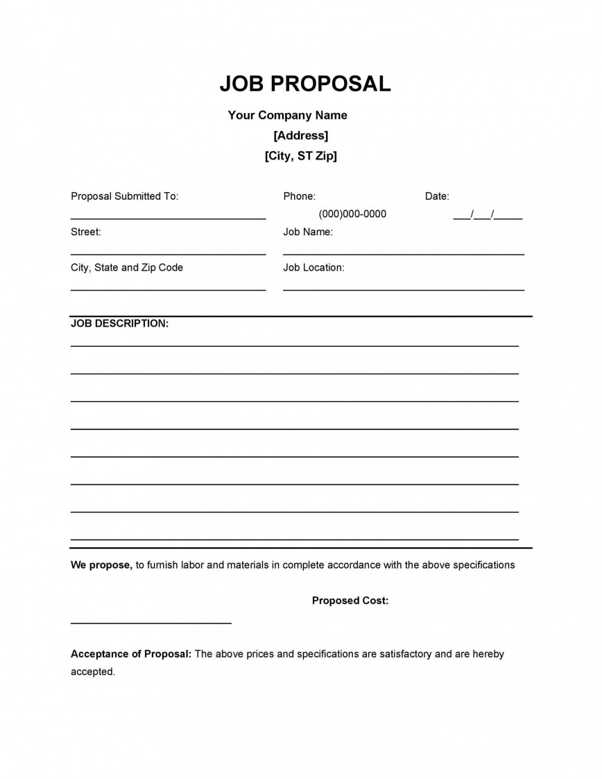 004 Unforgettable Writing A Job Proposal Template Sample High Resolution 868