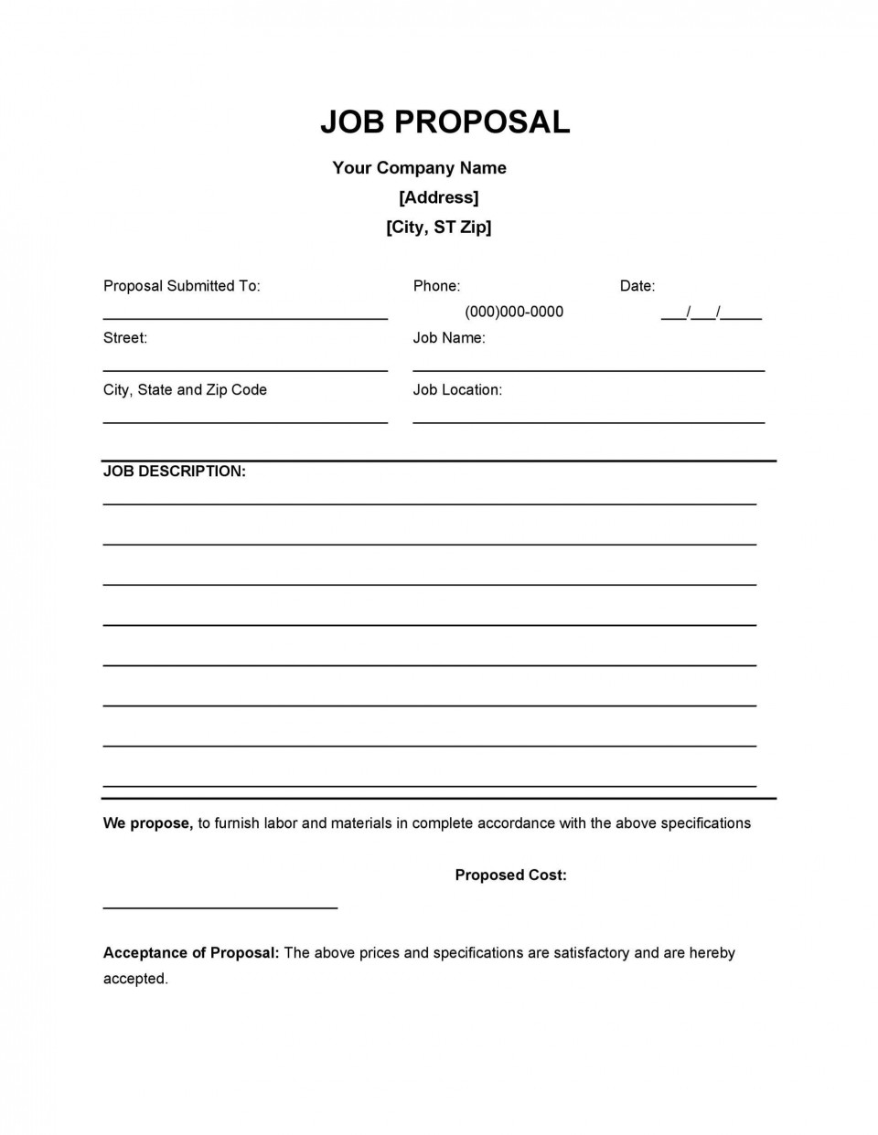 004 Unforgettable Writing A Job Proposal Template Sample High Resolution 960