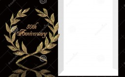 004 Unique 50th Wedding Anniversary Invitation Template Free Download Highest Clarity  Golden