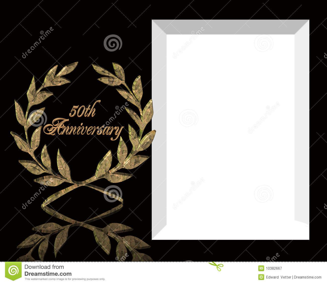 004 Unique 50th Wedding Anniversary Invitation Template Free Download Highest Clarity  GoldenFull