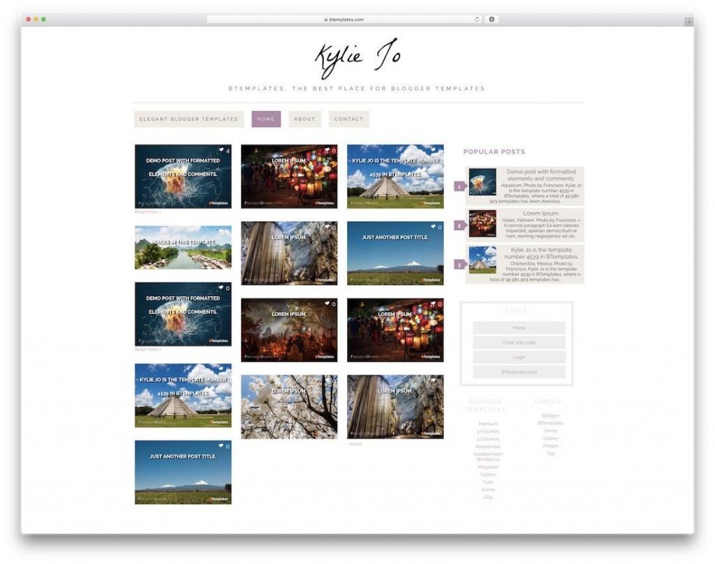 004 Unique Best Free Responsive Blogger Template Download Design Large