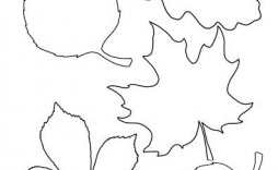 004 Unique Blank Leaf Template With Line Design  Lines Printable