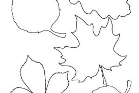 004 Unique Blank Leaf Template With Line Design  Printable