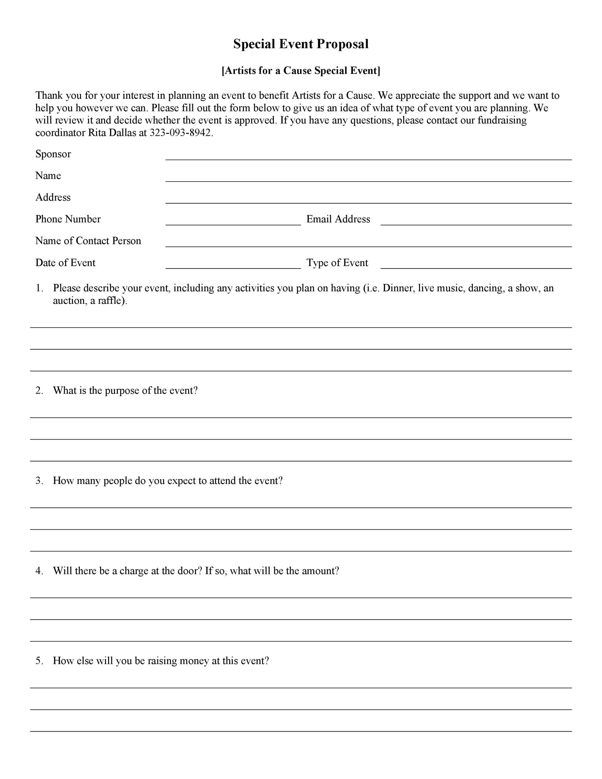 004 Unique Event Planning Proposal Template Concept  Example Pdf WordFull