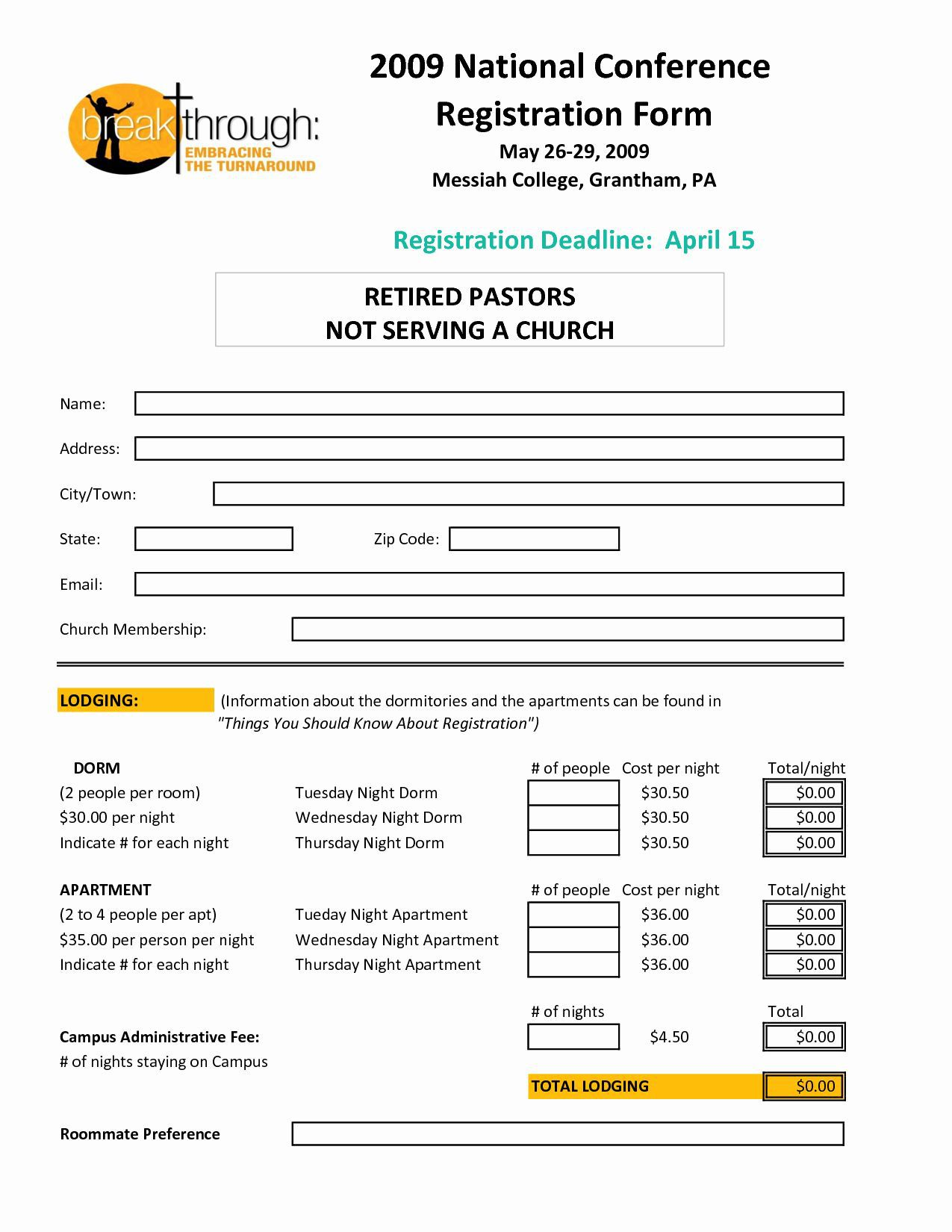 004 Unique Event Registration Form Template Image  Word Excel MicrosoftFull