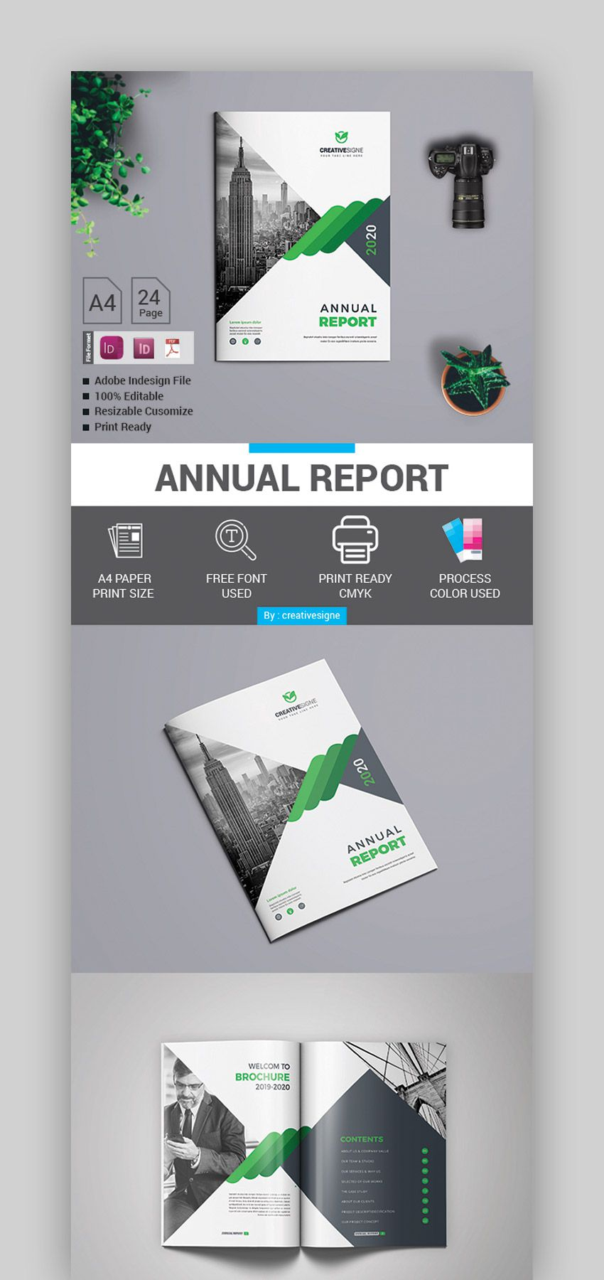 004 Unique Free Indesign Annual Report Template Download Concept Full