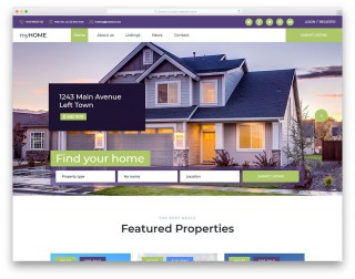 004 Unique Free Real Estate Template High Def  Website Download Bootstrap 4320