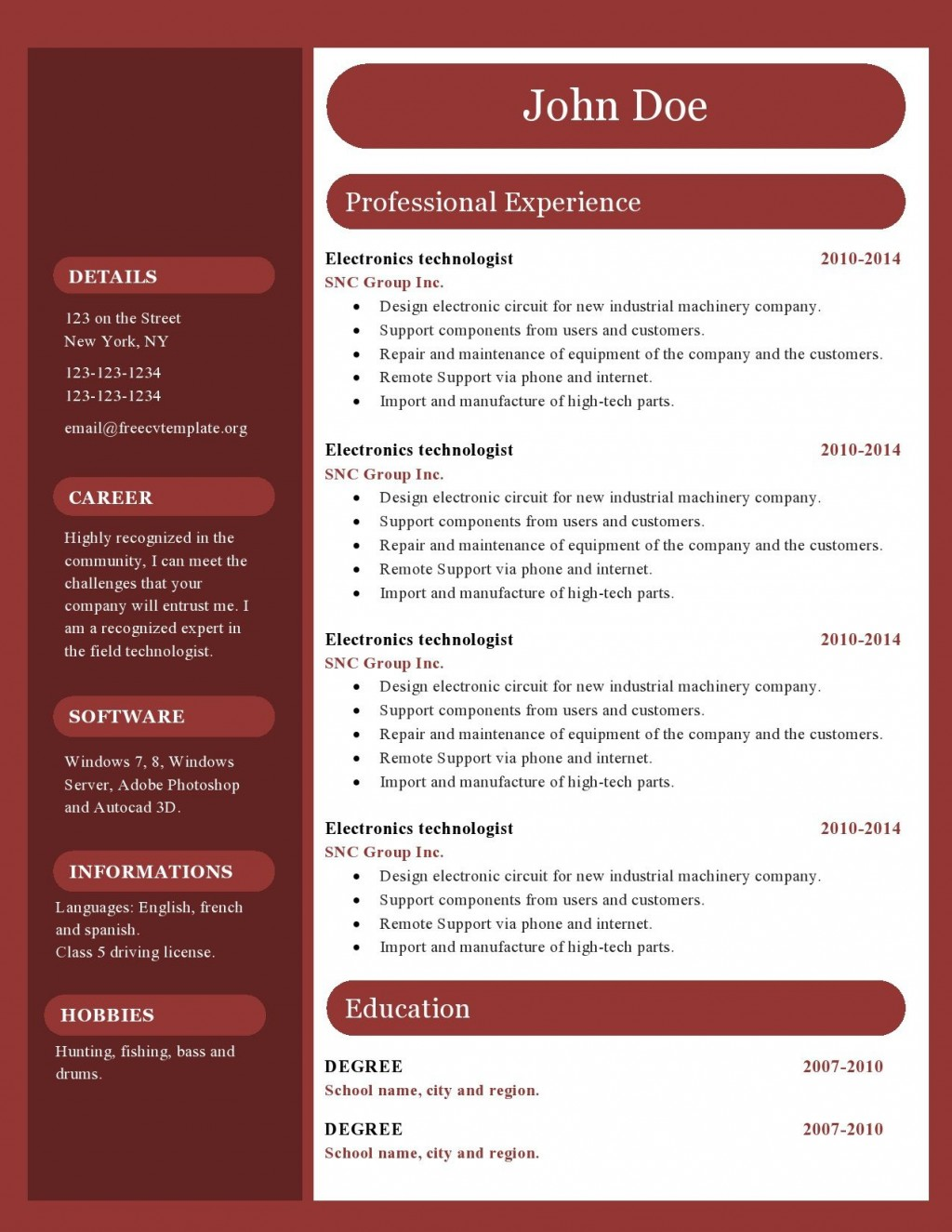 004 Unique Free Resume Template Microsoft Office Word 2007 Highest Clarity Large
