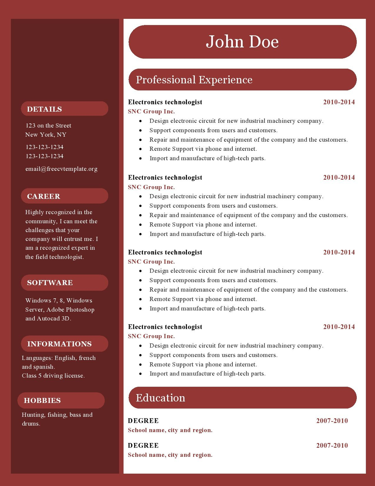 004 Unique Free Resume Template Microsoft Office Word 2007 Highest Clarity Full