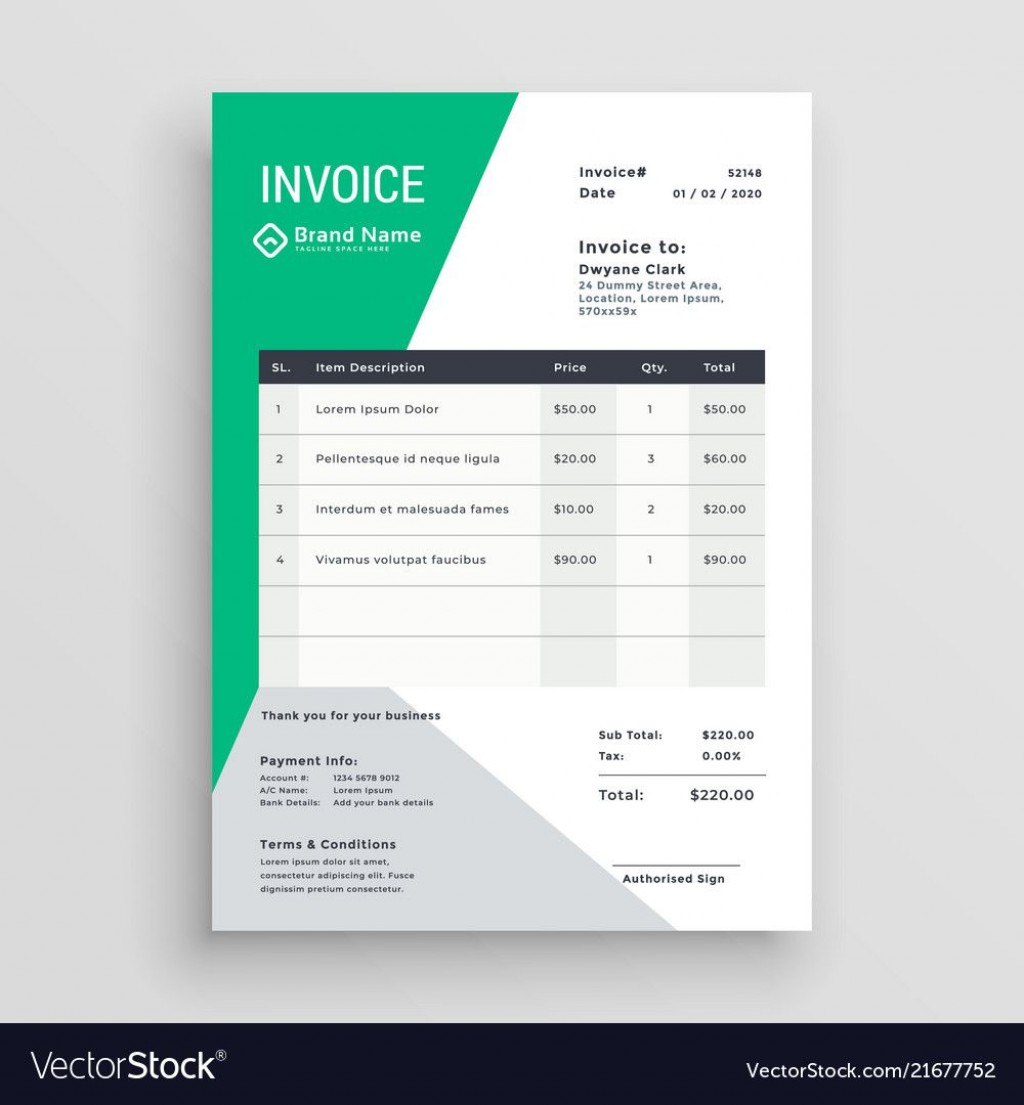 004 Unique Freelance Creative Invoice Template Concept  Graphic Designer Uk SimpleLarge
