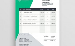 004 Unique Freelance Creative Invoice Template Concept  Graphic Designer Uk Simple