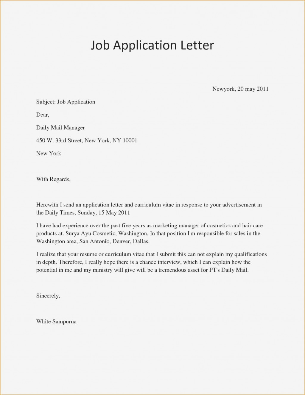 004 Unique Good Cover Letter Example Download High Definition  WordLarge