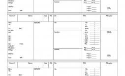 004 Unique Nursing Report Sheet Template Sample  Icu Rn Printable