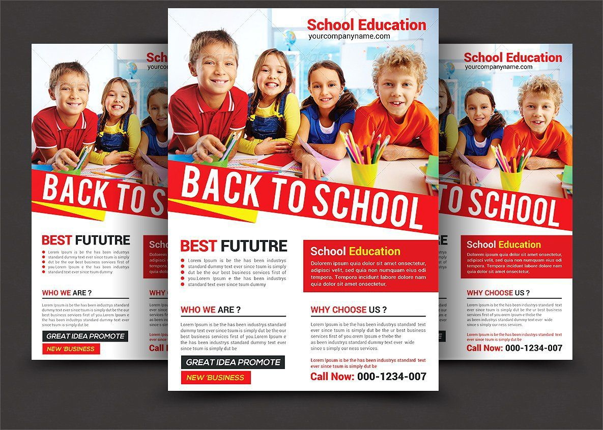 004 Unique School Picture Day Flyer Template Idea  FreeFull
