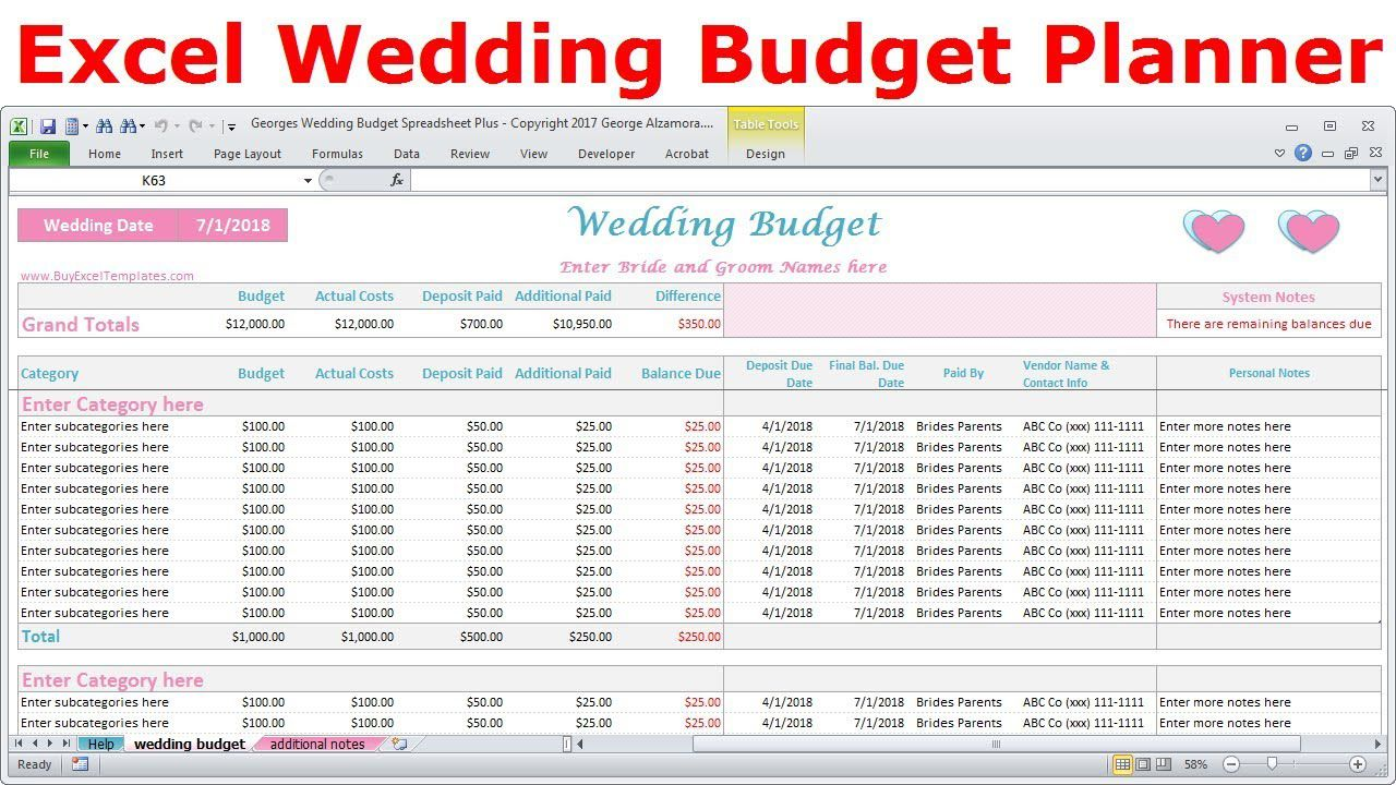 004 Unique Wedding Budget Template Excel Inspiration  South Africa Sample SpreadsheetFull