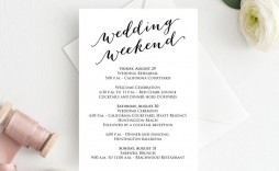 004 Unique Wedding Weekend Itinerary Template Example  Day Word Reception Timeline Excel