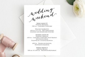 004 Unique Wedding Weekend Itinerary Template Example  Day Timeline Word Sample
