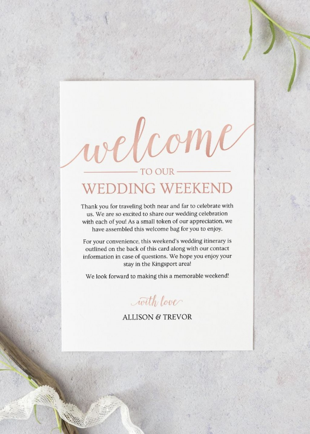 004 Unique Wedding Welcome Letter Template Free Photo  BagLarge