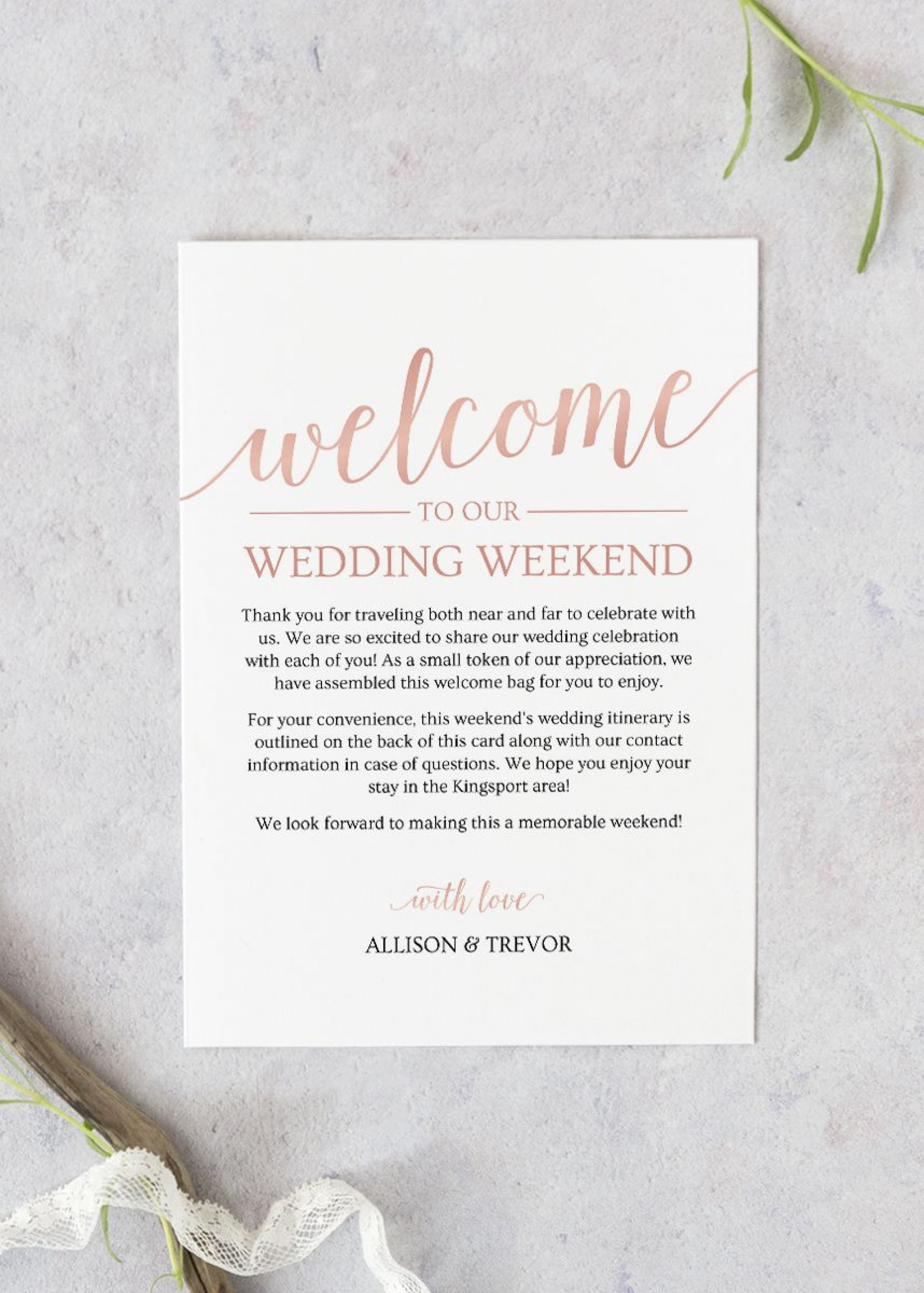 004 Unique Wedding Welcome Letter Template Free Photo  Bag1920