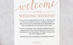 004 Unique Wedding Welcome Letter Template Free Photo  Bag