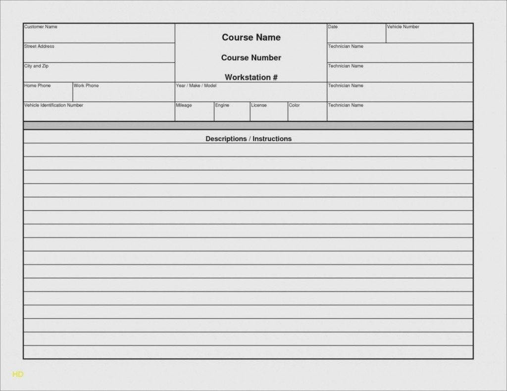004 Unusual Automotive Repair Invoice Template Free Sample  Auto Excel PdfLarge