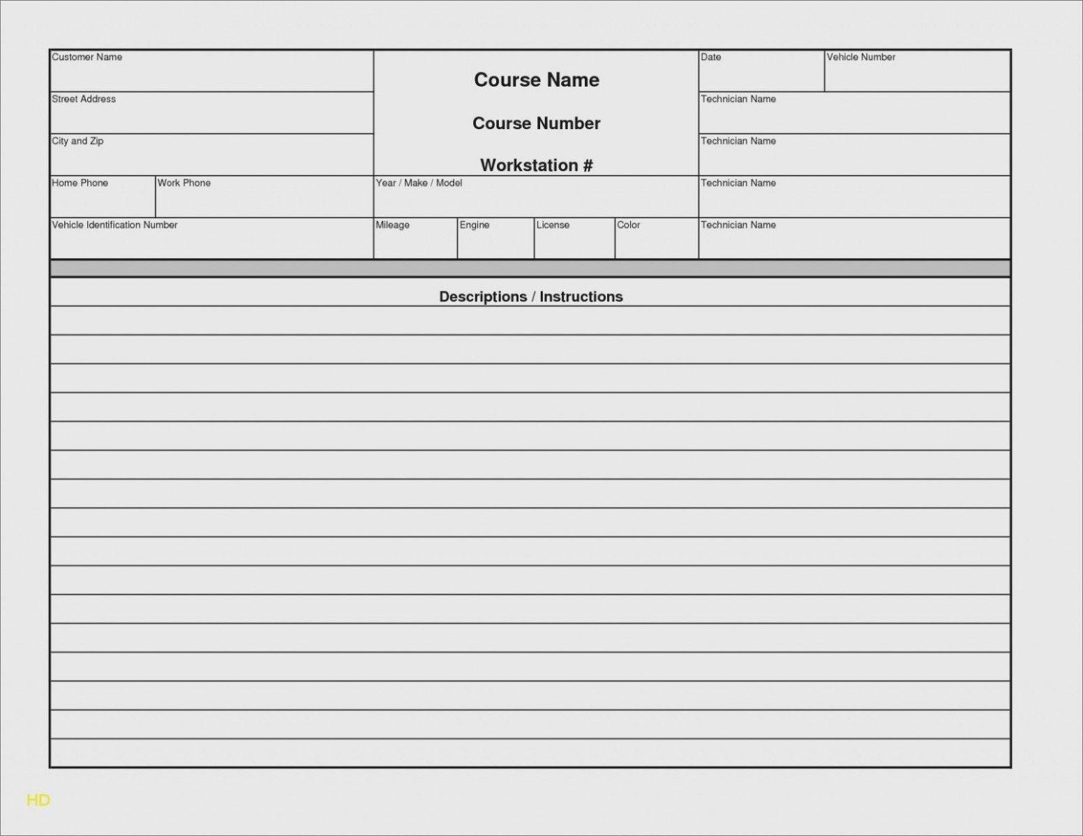 004 Unusual Automotive Repair Invoice Template Free Sample  Auto Excel PdfFull