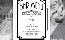 004 Unusual Bar Menu Template Free High Def  Download Snack