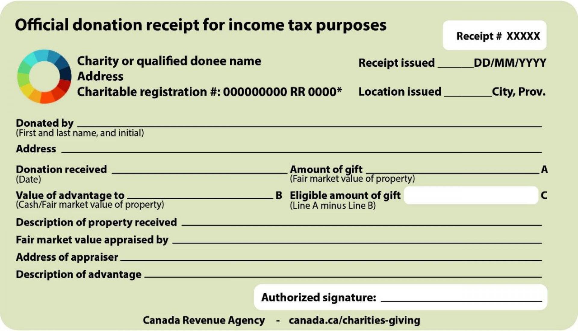 004 Unusual Charitable Tax Receipt Template Highest Clarity  Donation1920