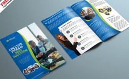 004 Unusual Corporate Brochure Design Template Psd Free Download Example  Tri Fold Hotel