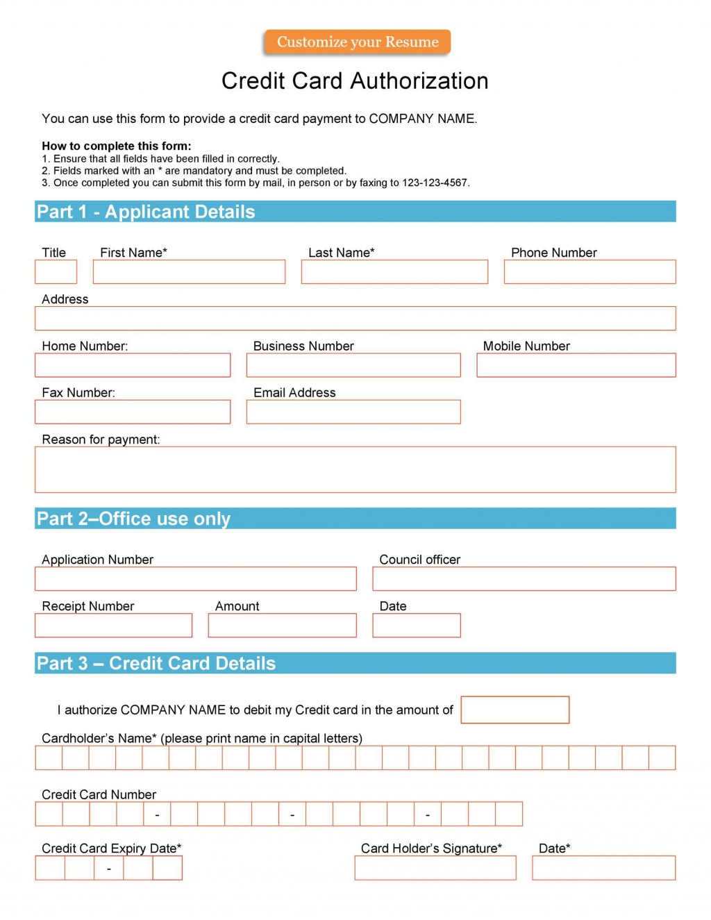 004 Unusual Credit Card Usage Request Form Template Example Large