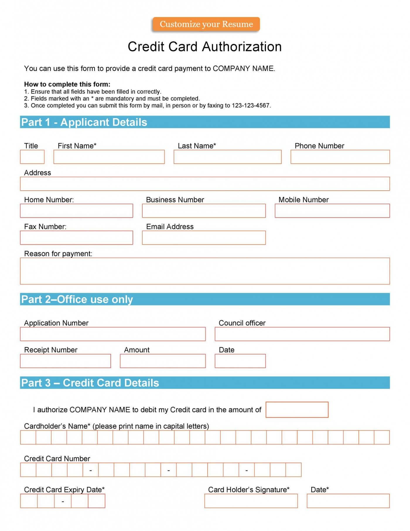 004 Unusual Credit Card Usage Request Form Template Example 1400