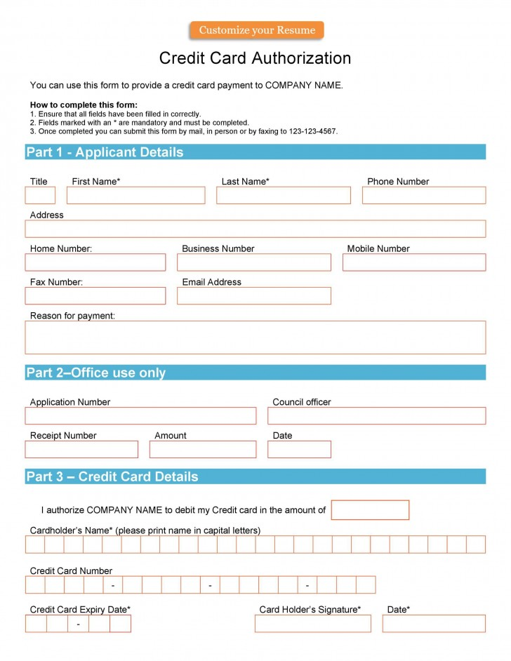 004 Unusual Credit Card Usage Request Form Template Example 728