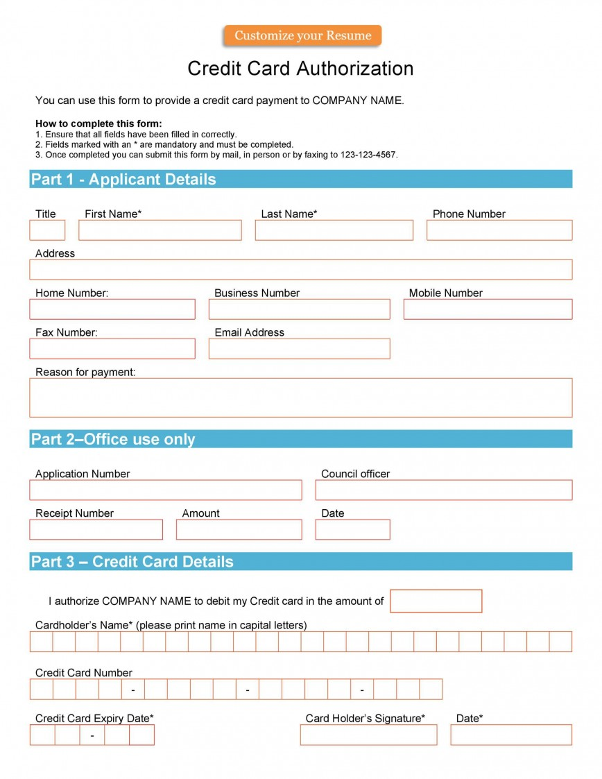 004 Unusual Credit Card Usage Request Form Template Example 868