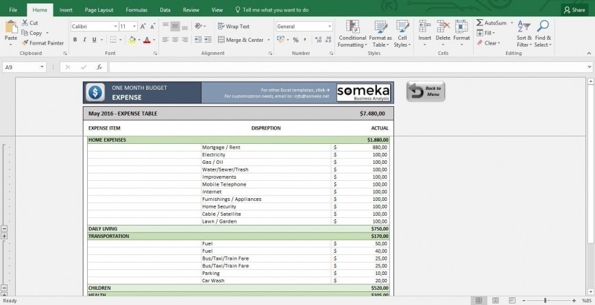 004 Unusual Excel Monthly Budget Template Free Highest Quality  Microsoft Household Bill