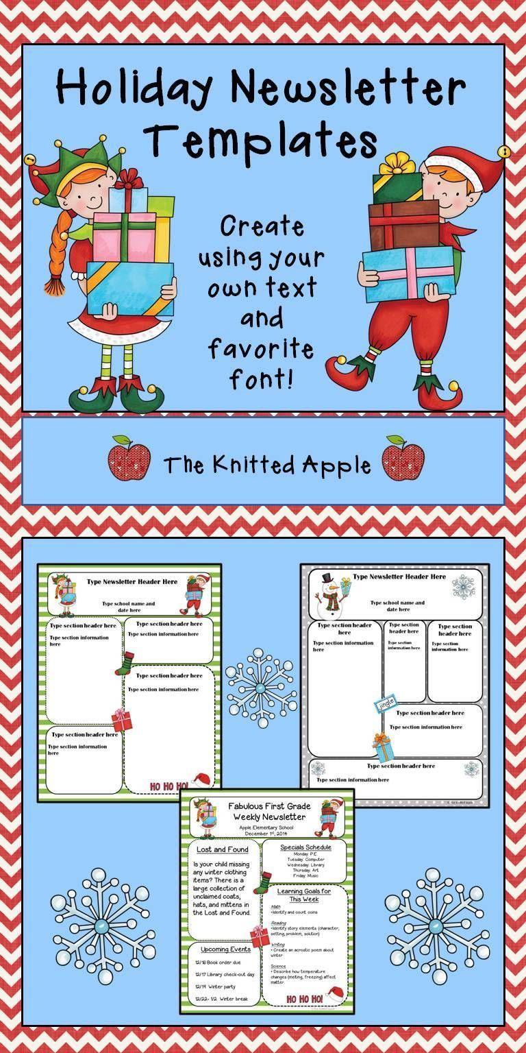 004 Unusual Free Christma Newsletter Template Microsoft Word Design Full