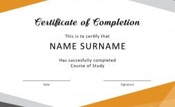 004 Unusual Free Template For Certificate Design  Certificates Online Of Completion Attendance Printable Participation