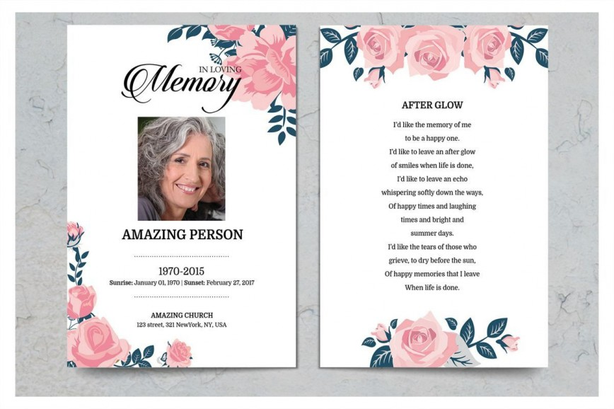 004 Unusual Funeral Prayer Card Template High Definition  Templates For Word Free Memorial