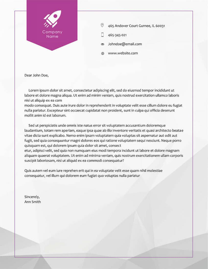 004 Unusual Letterhead Template Free Download Doc Example  Company FormatFull