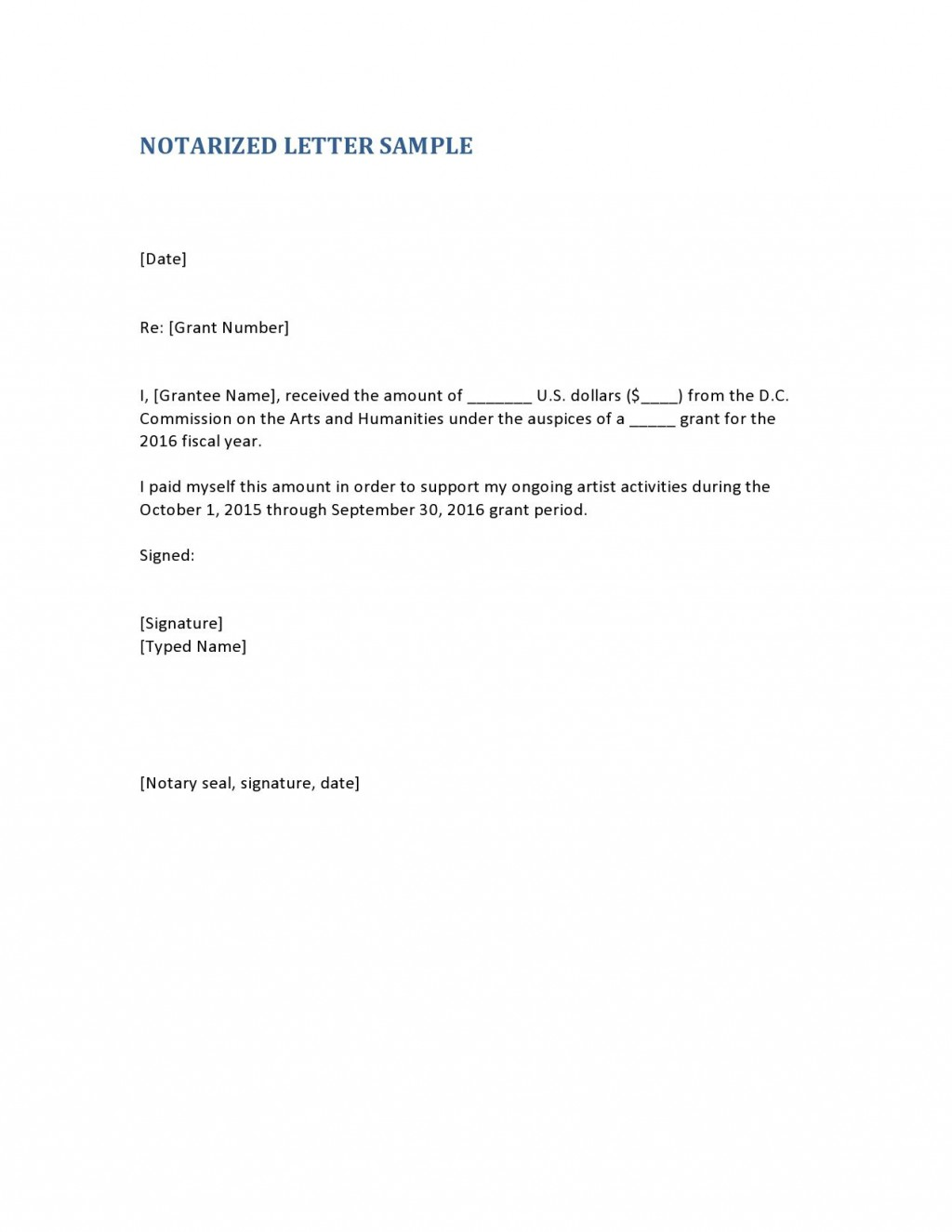 004 Unusual Notarized Letter Template Word Concept  MicrosoftLarge