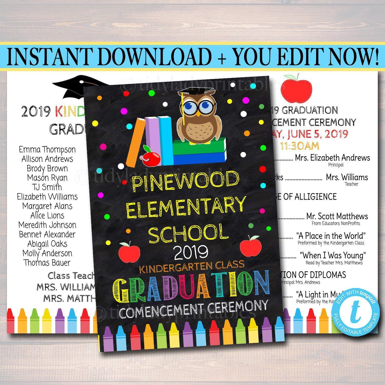 004 Unusual Preschool Graduation Program Template Highest Clarity  Templates Free Printable PdfFull