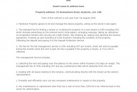 004 Unusual Property Management Contract Template Free High Resolution  Uk