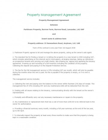 004 Unusual Property Management Contract Template Free High Resolution  Uk360