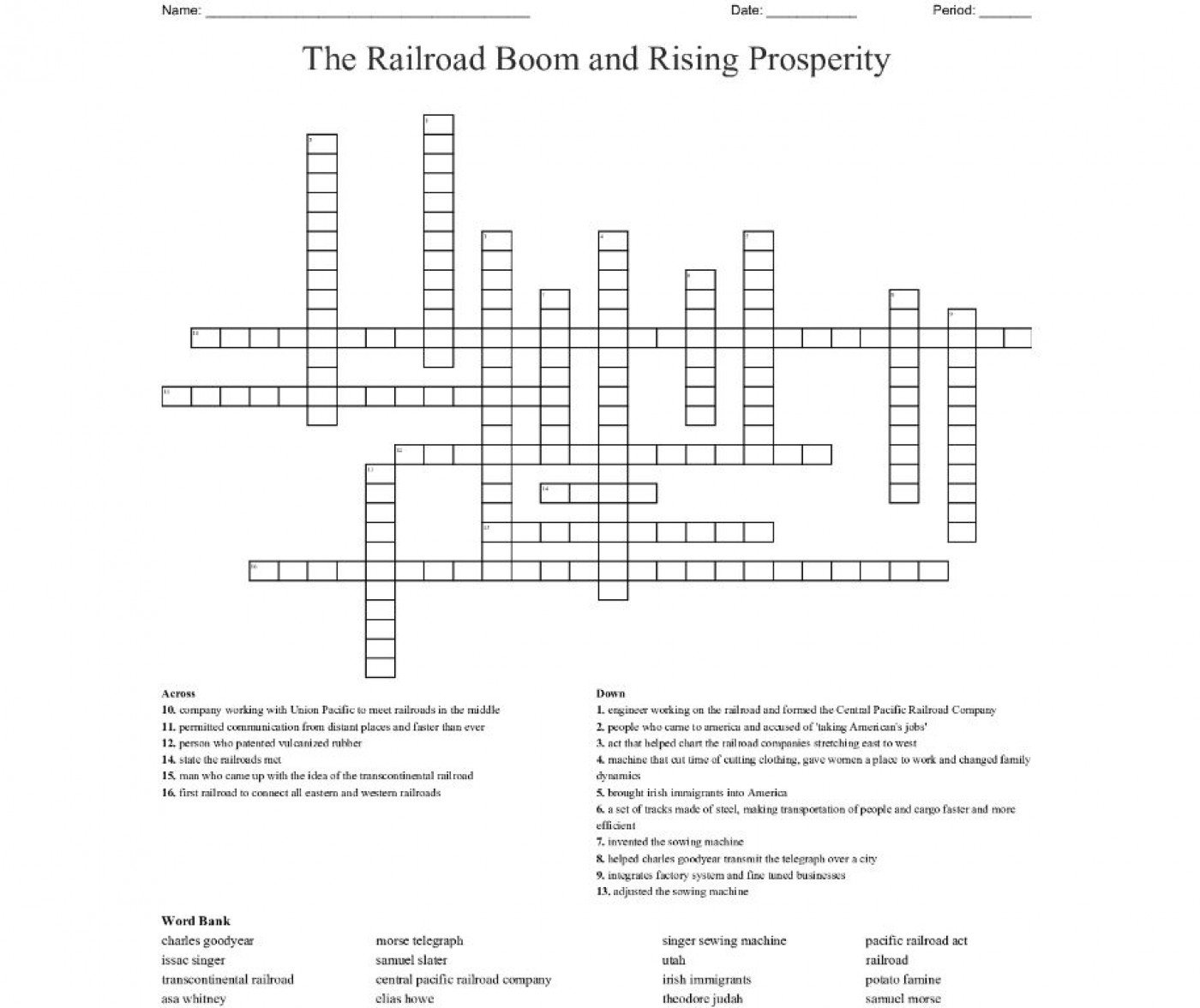 004 Unusual Prosperity Crossword Sample  Hollow Sound Of Sudden Clue Material 7 Letter1400