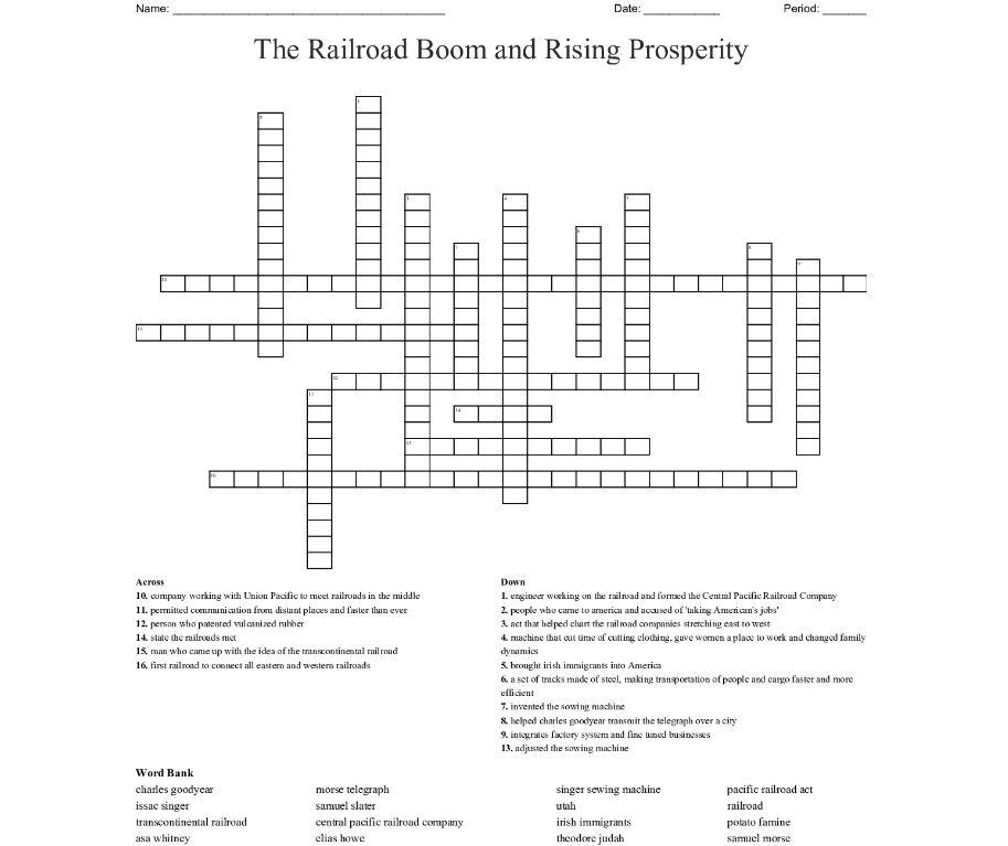 004 Unusual Prosperity Crossword Sample  Clue 6 Letter Material Prosperou 4Full