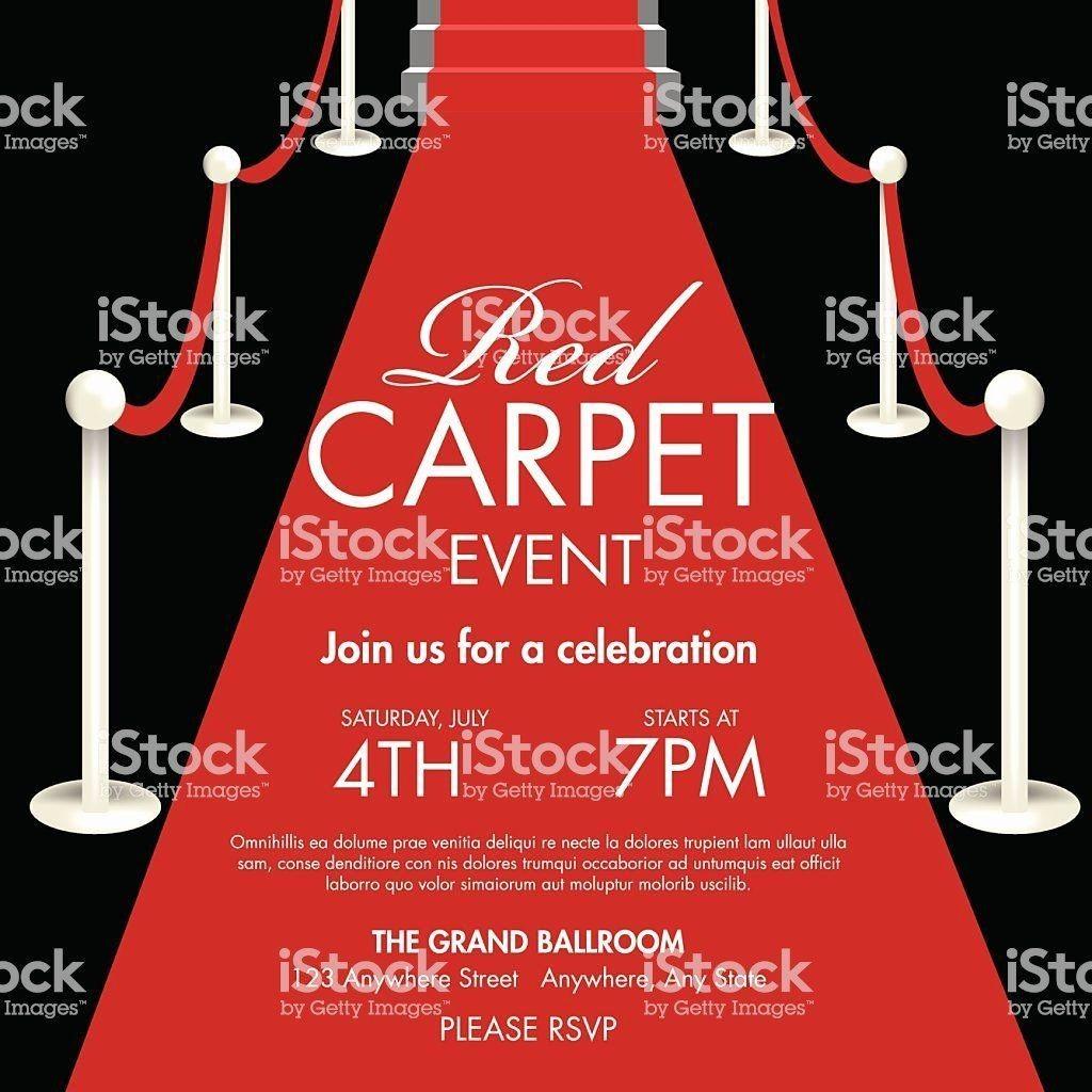 004 Unusual Red Carpet Invitation Template Free High Resolution  DownloadLarge