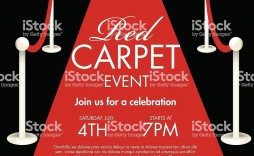 004 Unusual Red Carpet Invitation Template Free High Resolution  Download